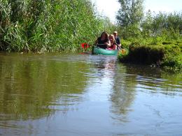 Kano-varen in de natuur
